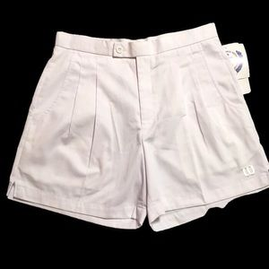 Wilson White Tennis Gym Shorts NWT